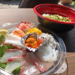 新鮮萩産魚介を味わえる  道の駅テイクアウトグルメ